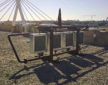 Maquinas de enfriamiento en tejado