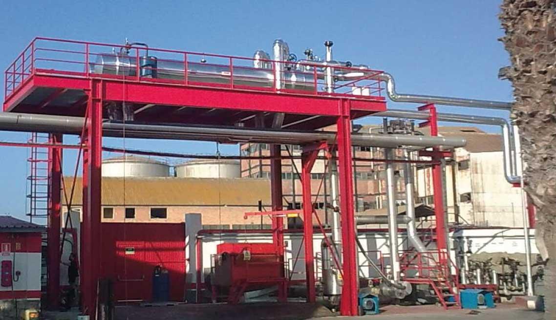 Panorámica de una instalación de betún asfáltico aceite térmico IMB