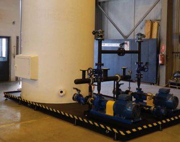 Instalación de skid refrigeración prensa IMB