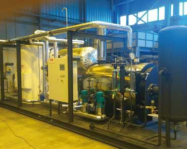 Instalacion skid agua osmotizada en taller IMB
