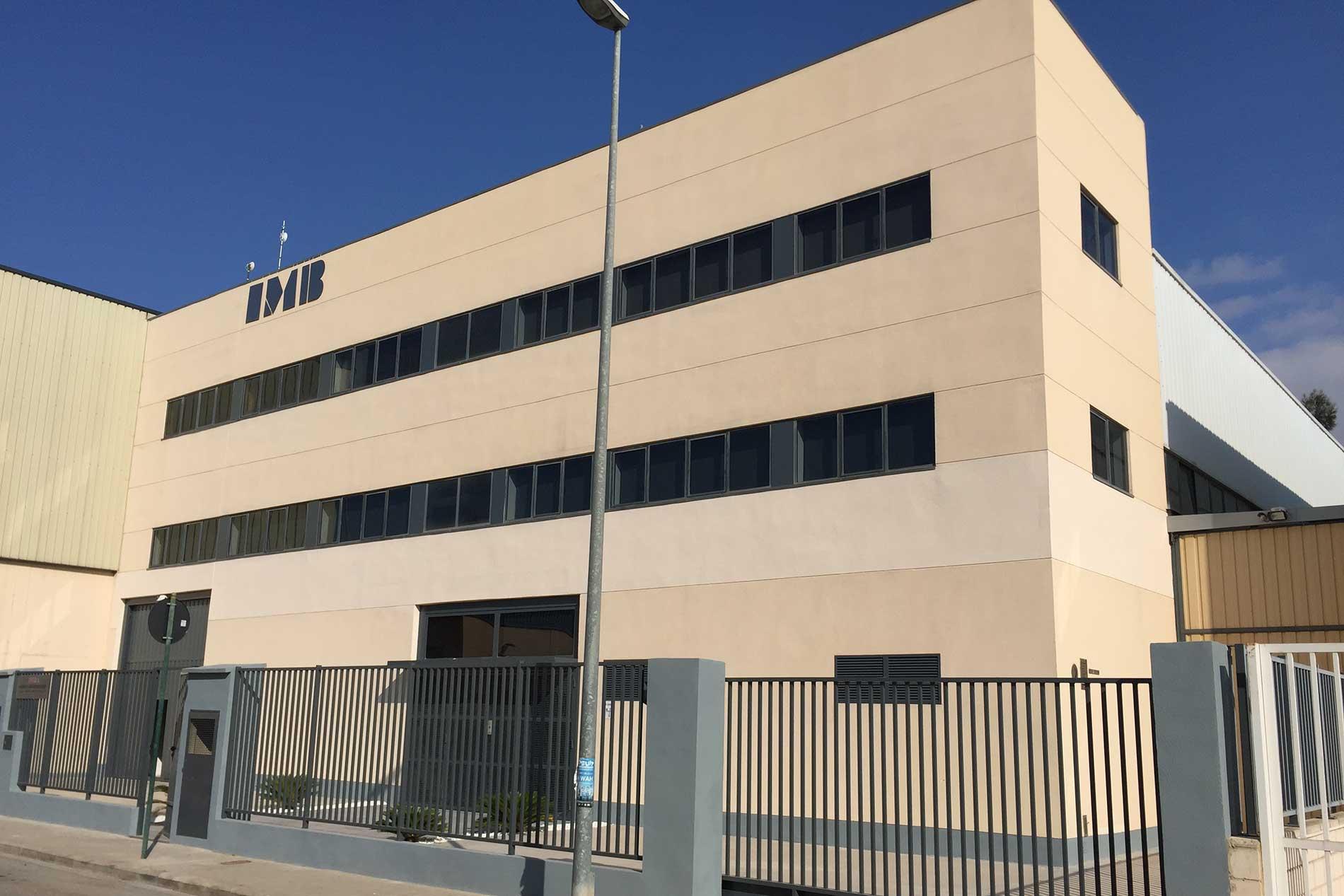 fachada nave industrial IMB