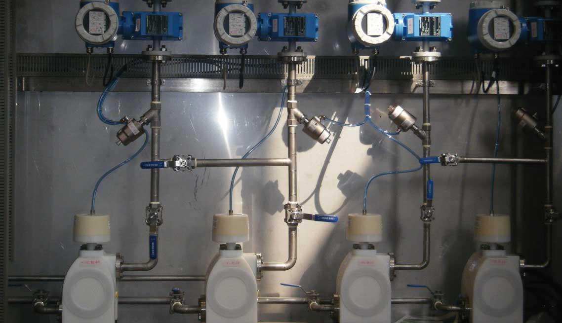 Dosificado sosa para proceso industrial