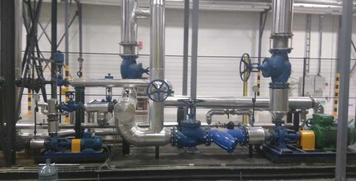 Instalación de agua sobrecalentada