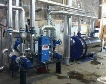 Instalacion produccion agua caliente